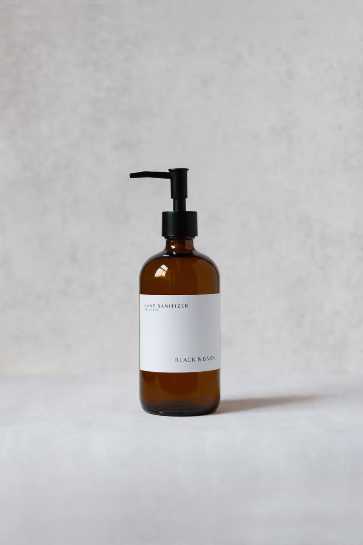 500ml Luxury Pump Bottle with White Waterproof Label