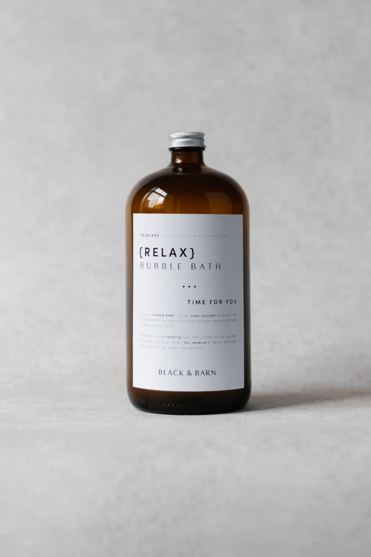 1L Luxury Bubble Bath Bottle with Waterproof Label