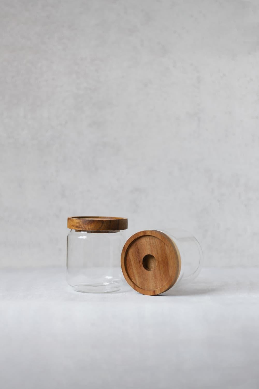 Clear Bamboo Pantry Jar - 300ml
