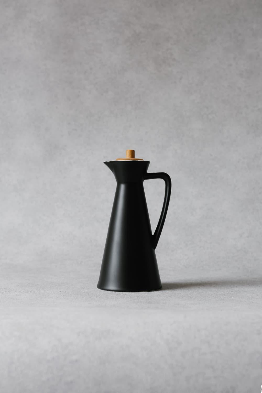 Ceramic Oil & Vinegar Jug in Black