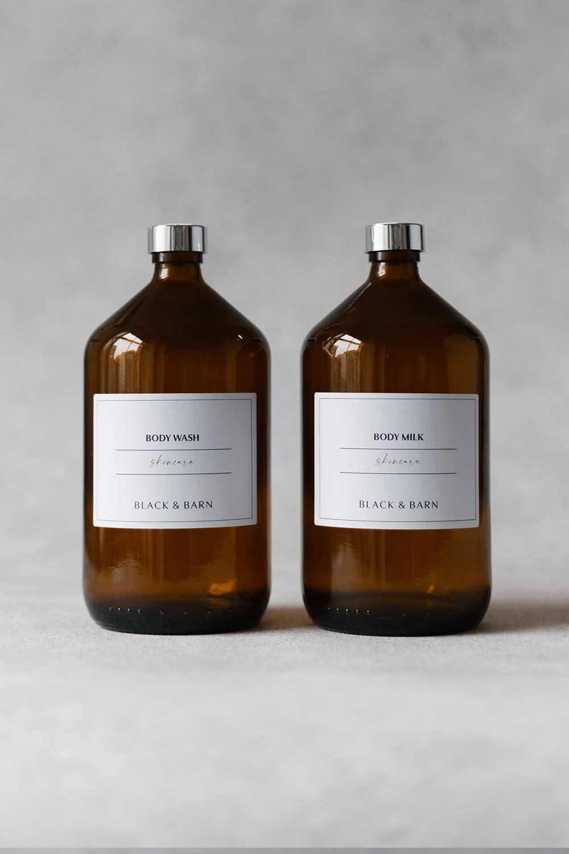 Body Wash & Body Milk Bottle