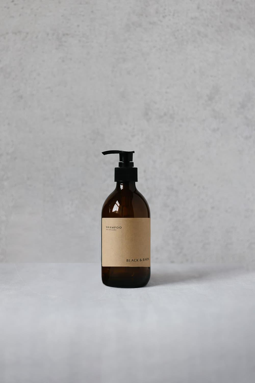 Pump Bottle with Kraft Label - 300ml