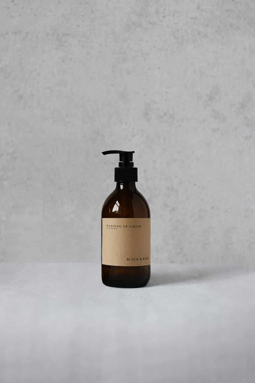 300ml Pump Bottle with Brown Kraft Label