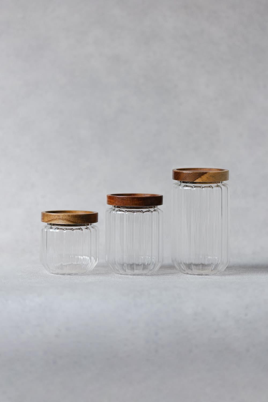 Ribbed Jars