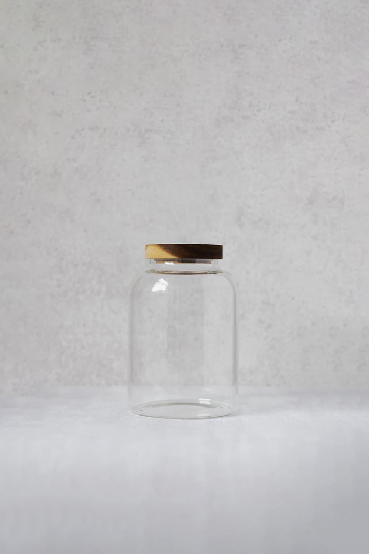 Clear Glass Pantry Jar - 1 Litre