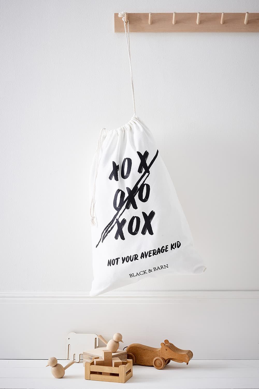 Kids Laundry & Toy Sack with XoXo print