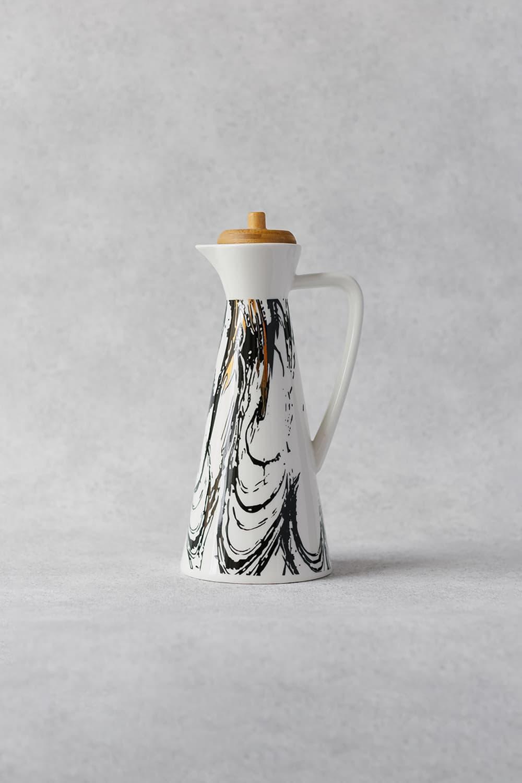 Ceramic Oil & Vinegar Jar in White