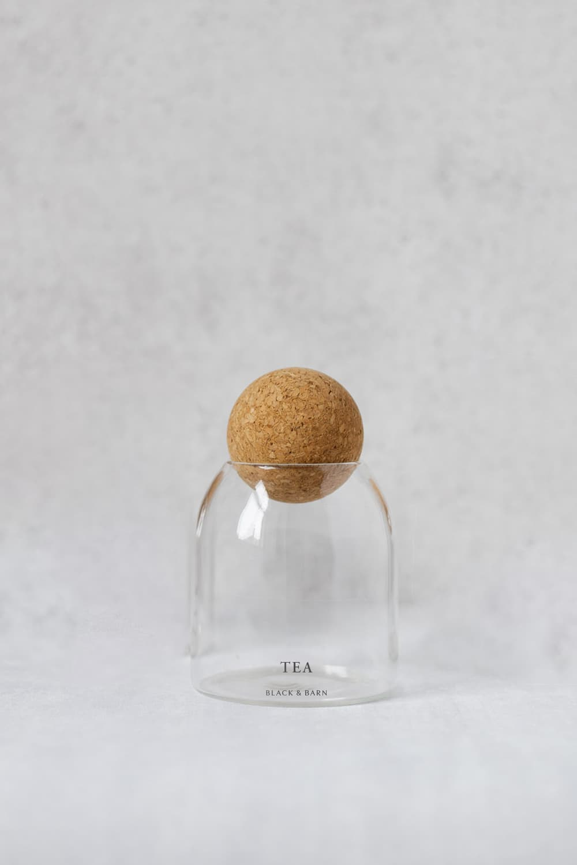 Ball Jar with Grey Print - 500ml