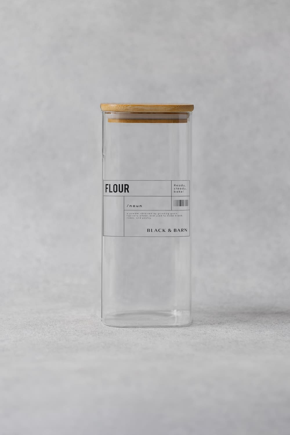 Clear Glass Rectangular Pot - 2 Litres