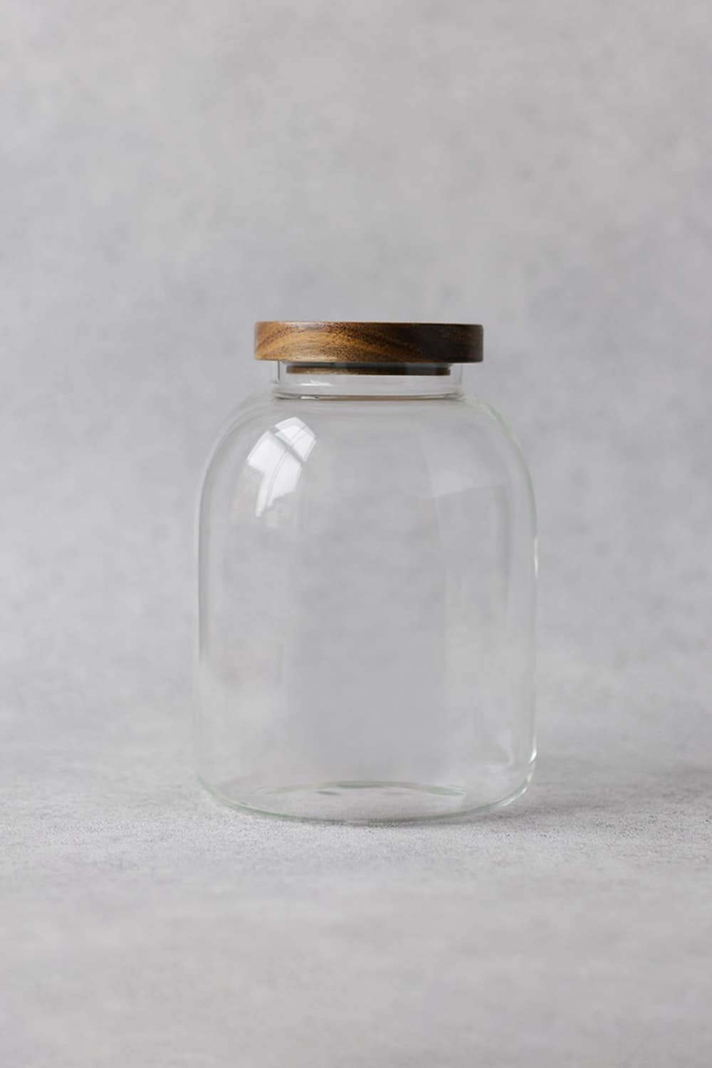 Clear Curved Glass Pantry Jar - 3Litres