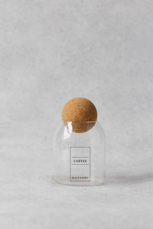 Ball Jar with Black Border Print - 500ml