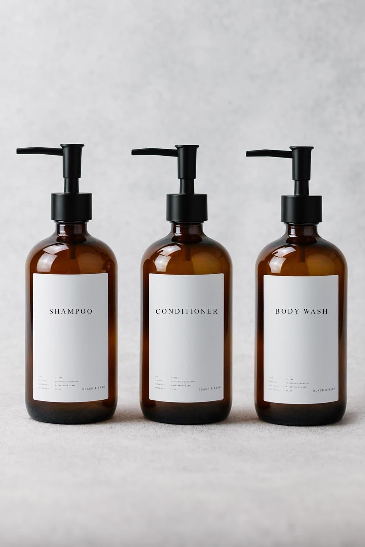 Luxury Bathroom Essentials Trio 1 Litre