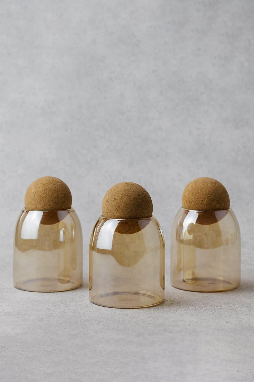 Sunset Gold Tinted Plain Ball Jars - 500ml Trio