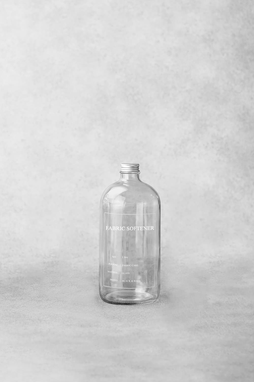 Clear Printed Utility Bottle - 1 Litre