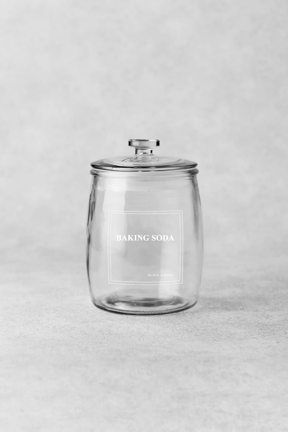 Baking Jars with white engraved label