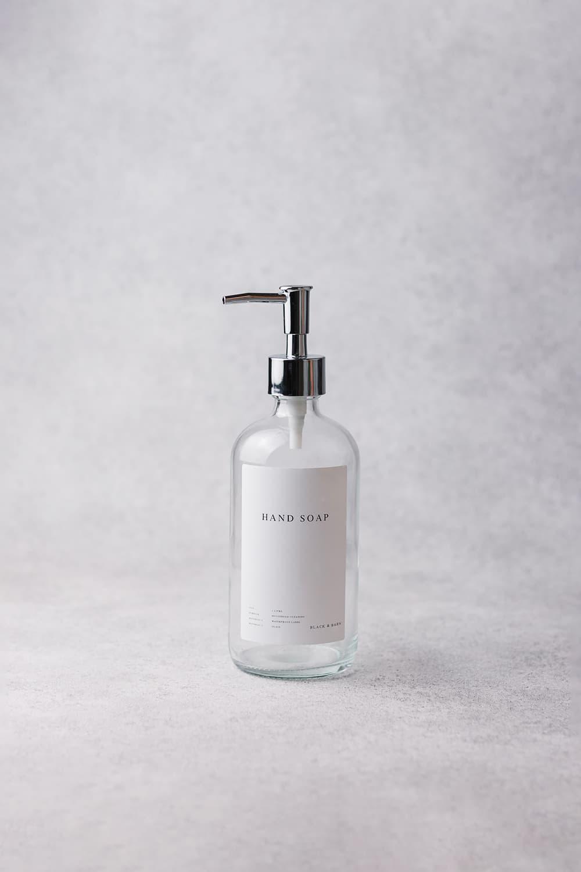 Clear Luxury Pump Bottle 500ml