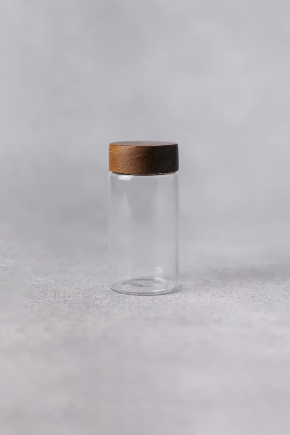 Clear Round Spice Pot