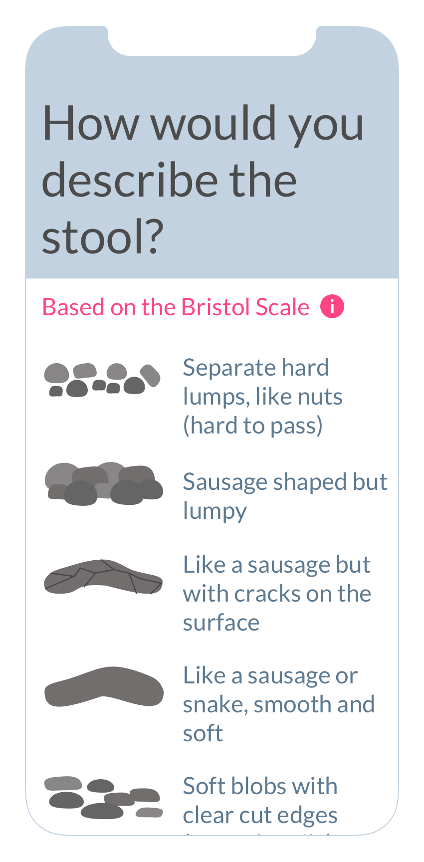 Bristol Stool Index on the ObvioHealth app.