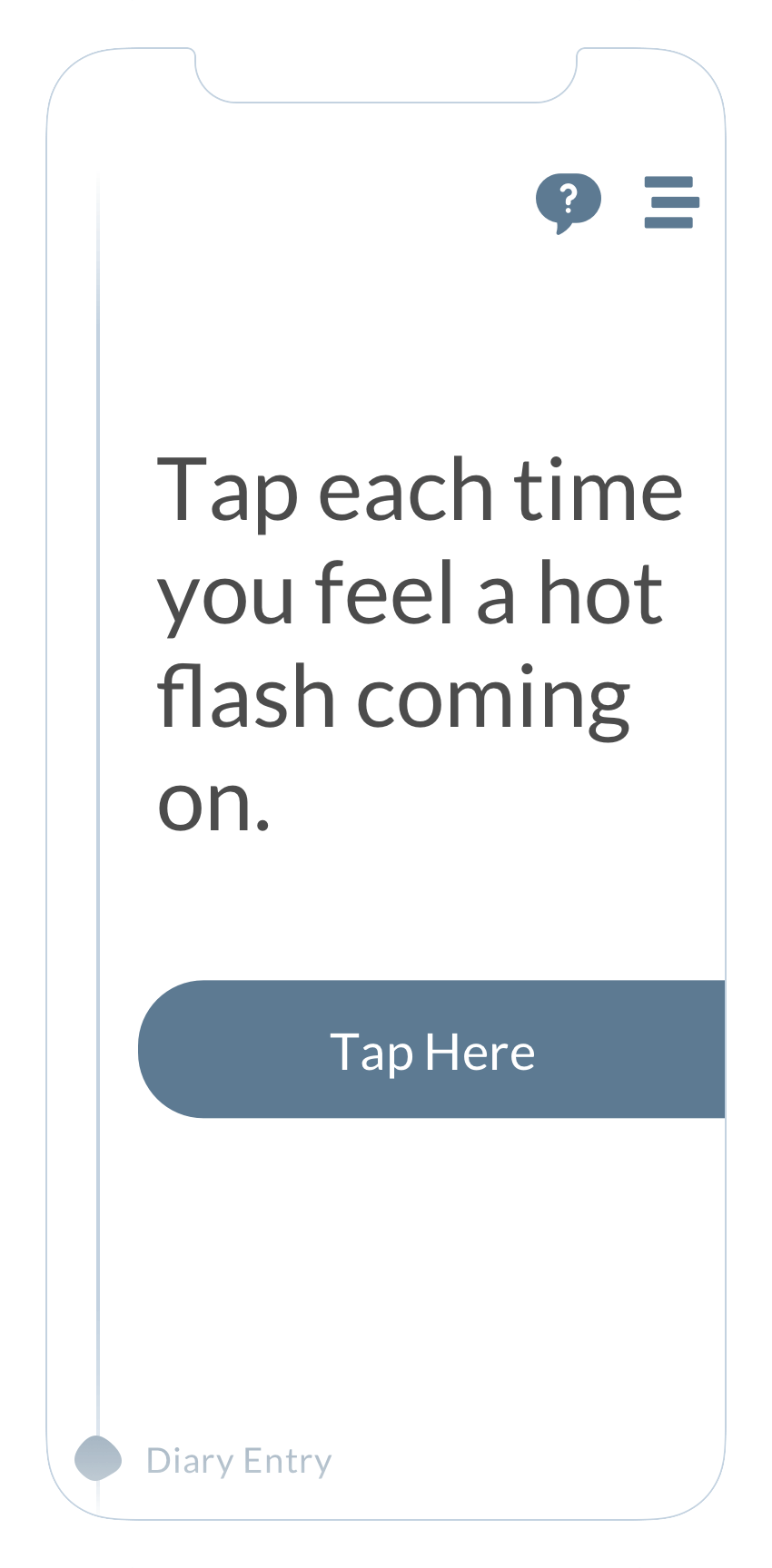"""Prevalence of hot flash"" screen of the ObvioHealth app."