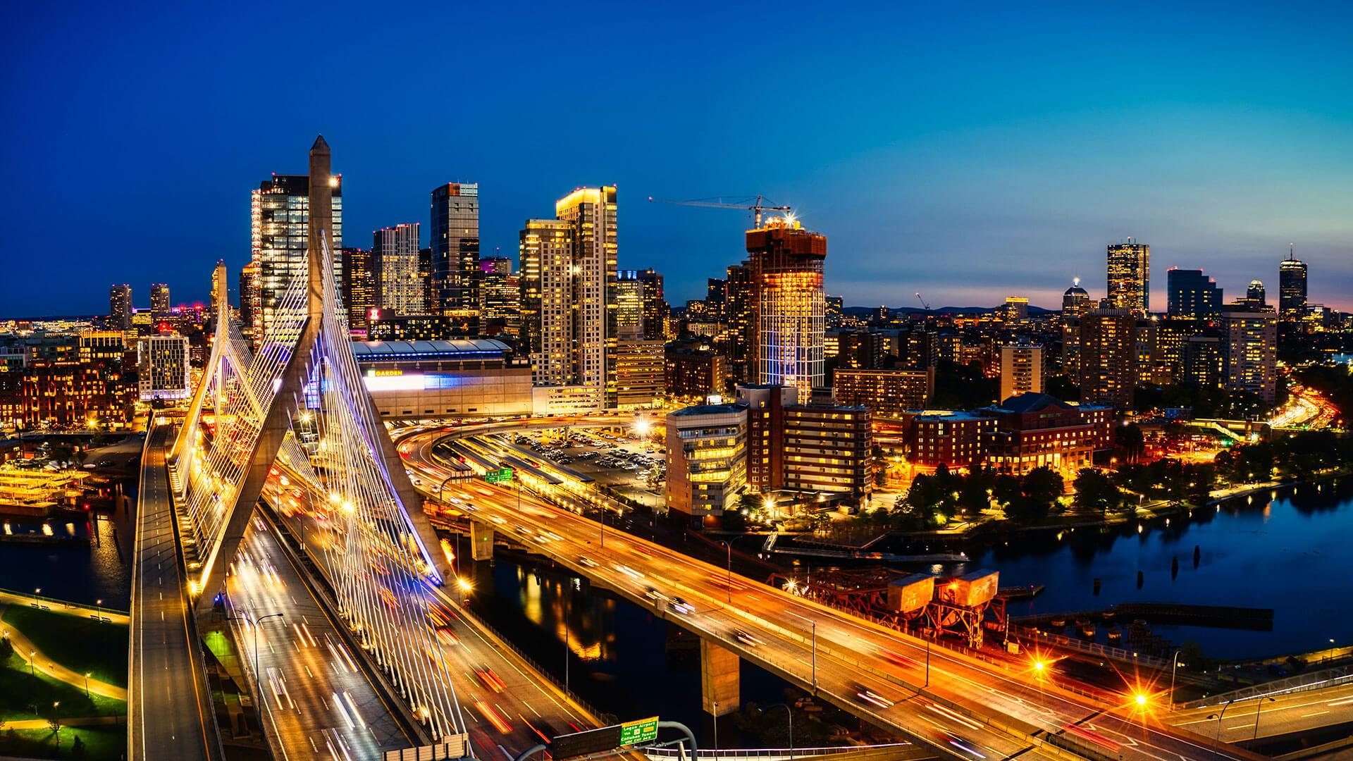 Cityscape of Boston, MA.