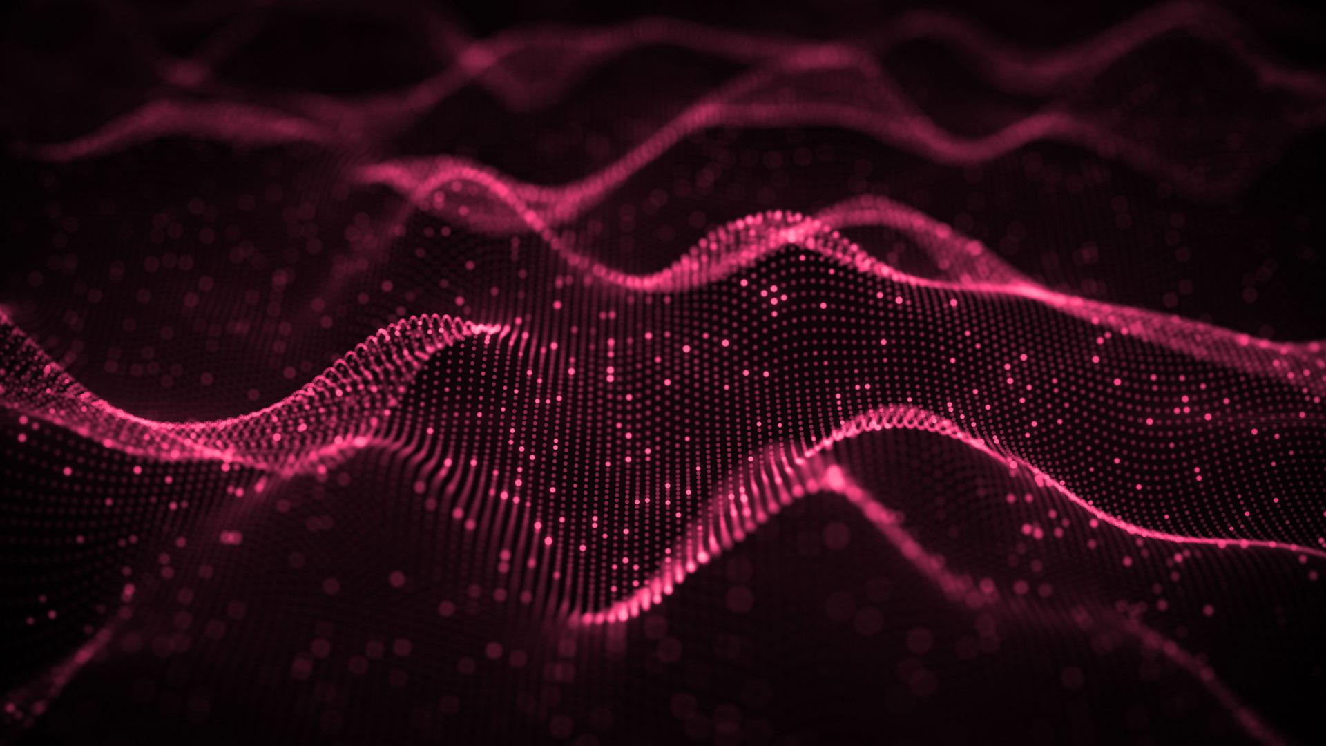 Data visualization of waves of data.