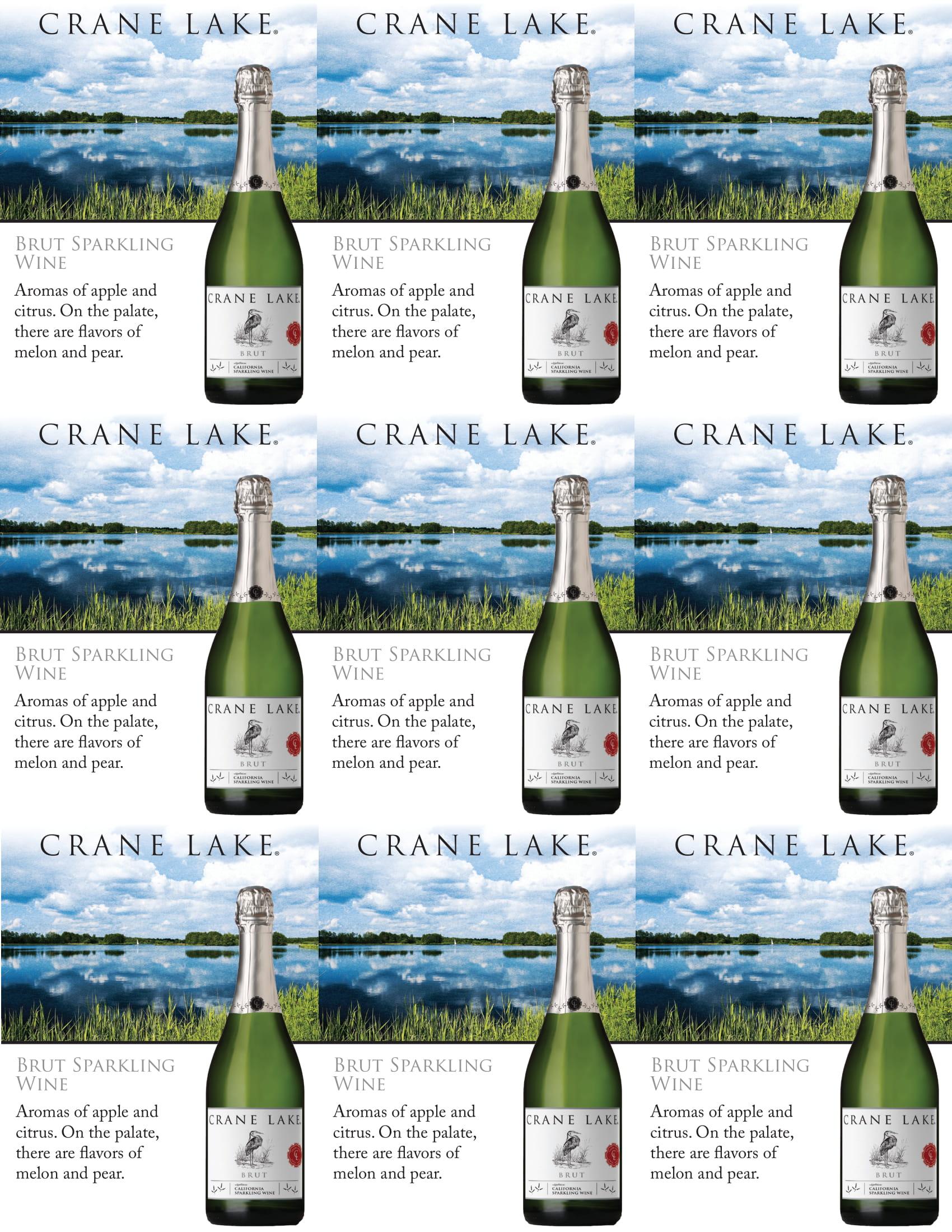 Crane Lake Brut Shelf Talkers