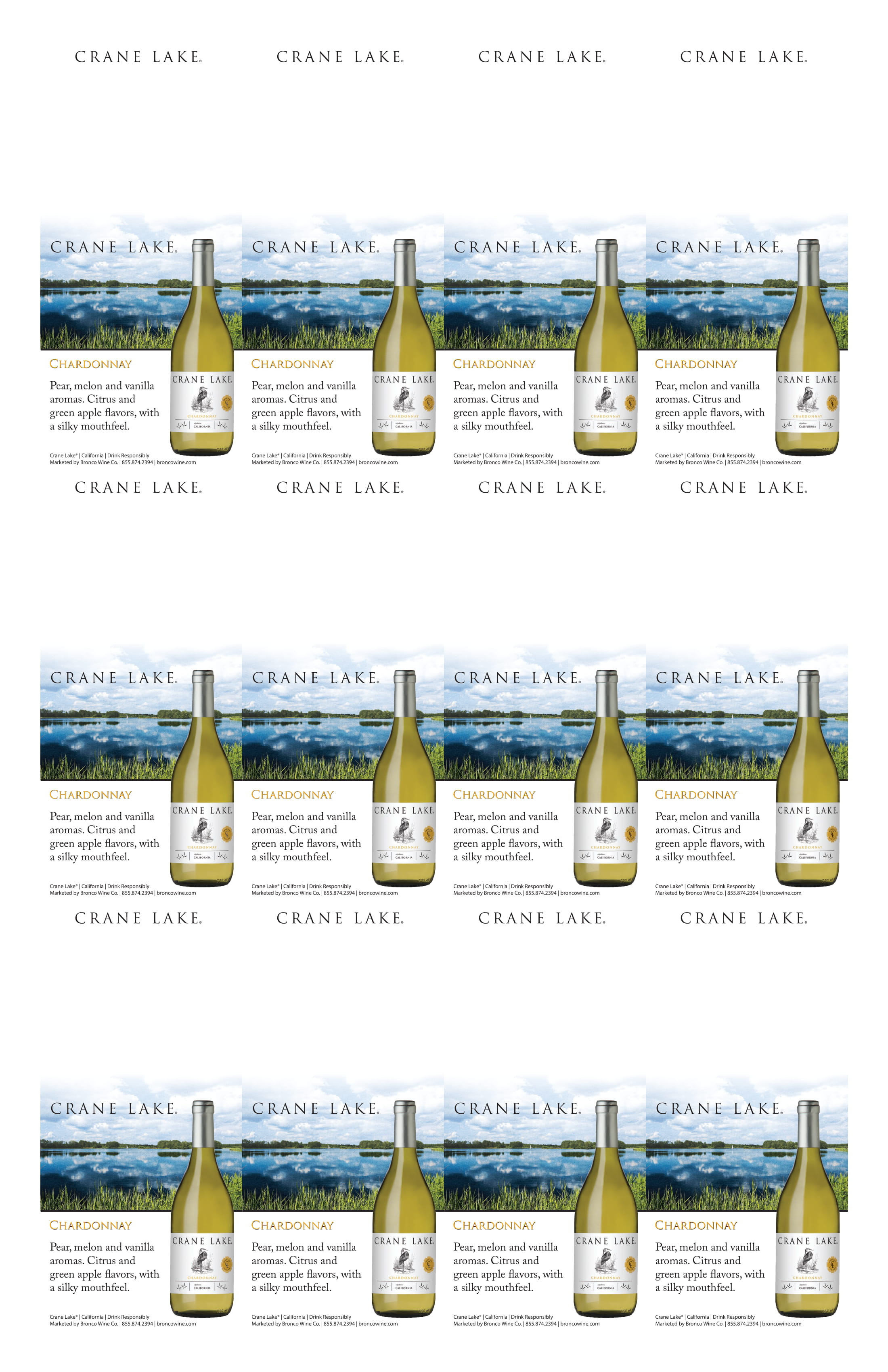 Crane Lake Chardonnay Neckers