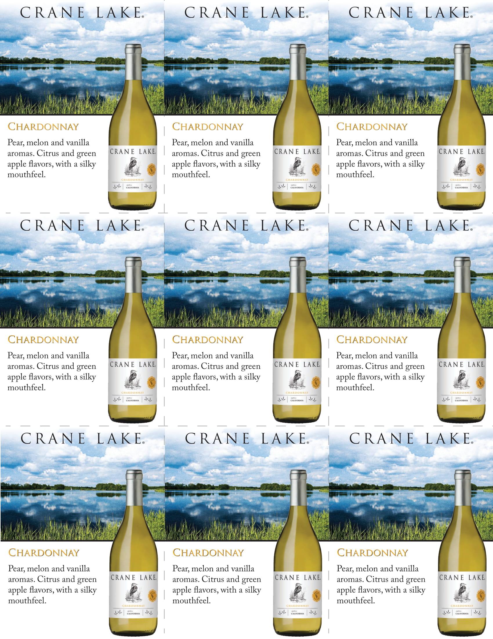 Crane Lake Chardonnay Shelf Talkers