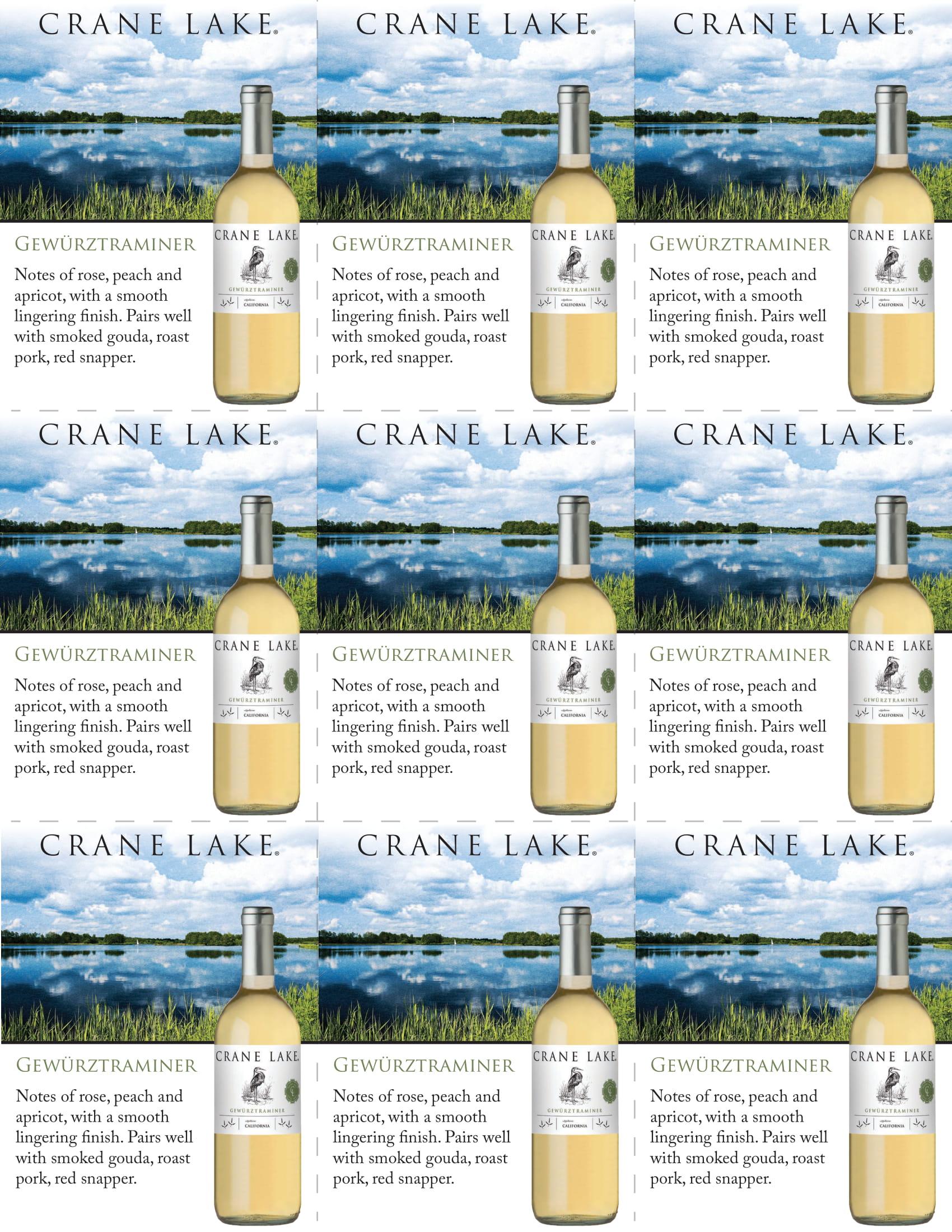 Crane Lake Gerwurztraminer Shelf Talkers