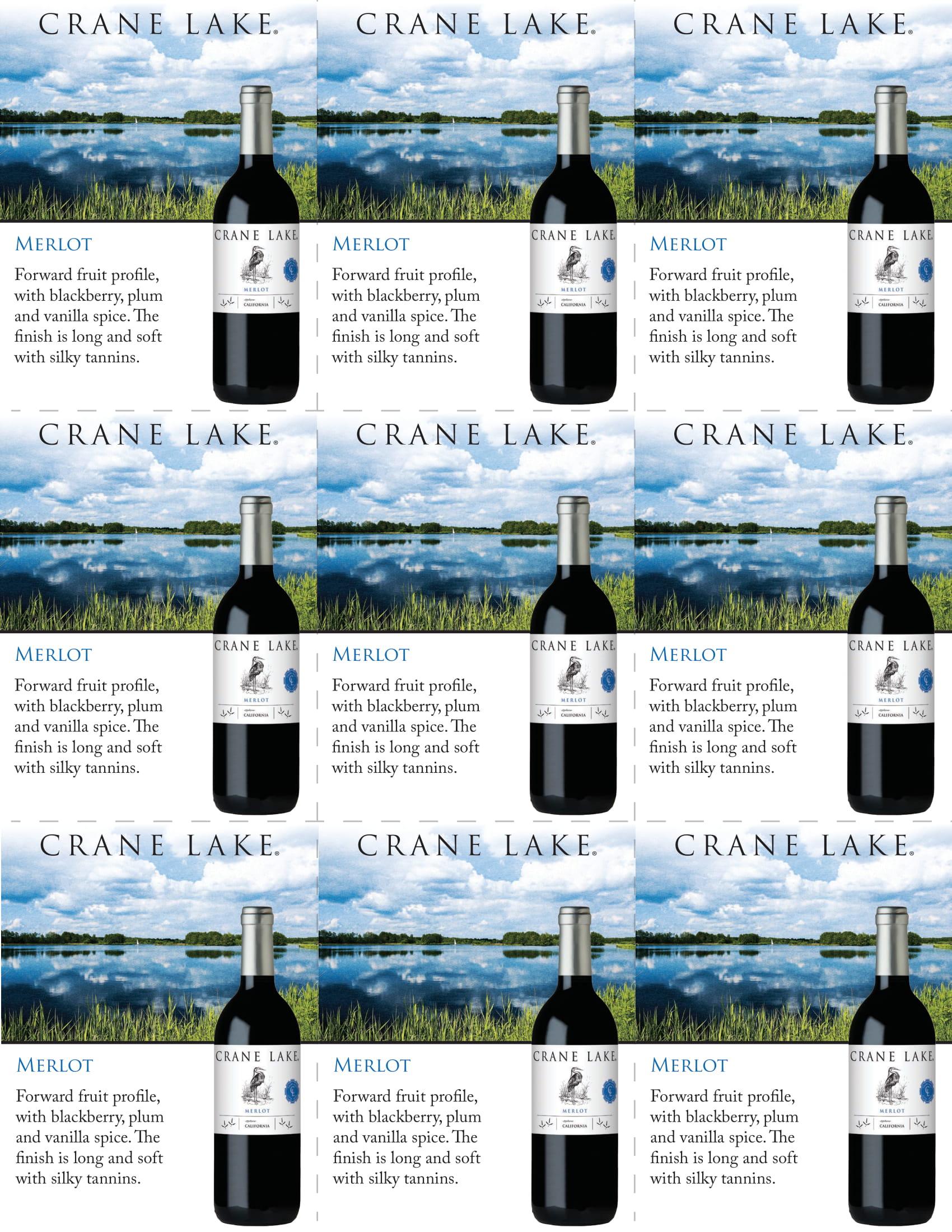 Crane Lake Merlot Shelf Talkers