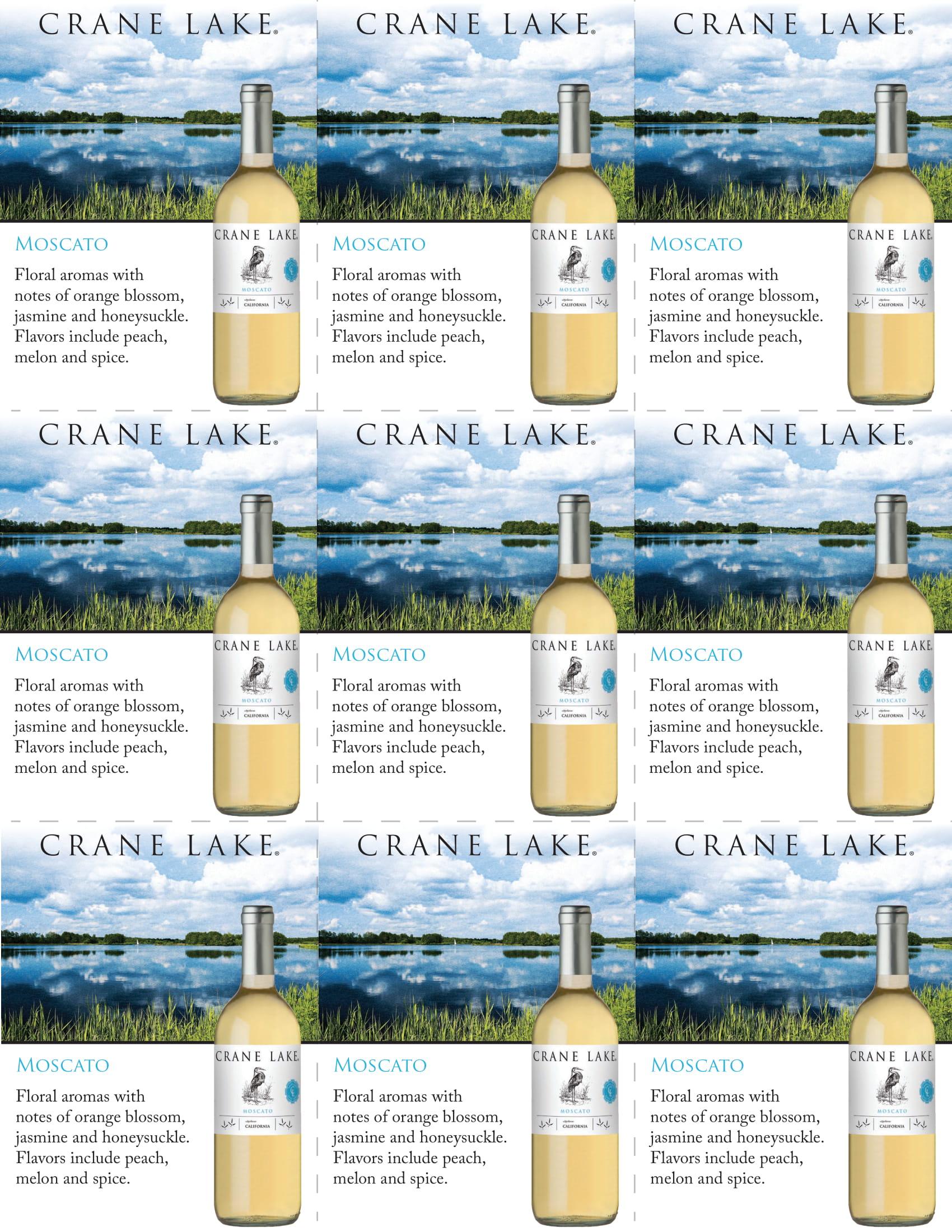Crane Lake Moscato Shelf Talkers