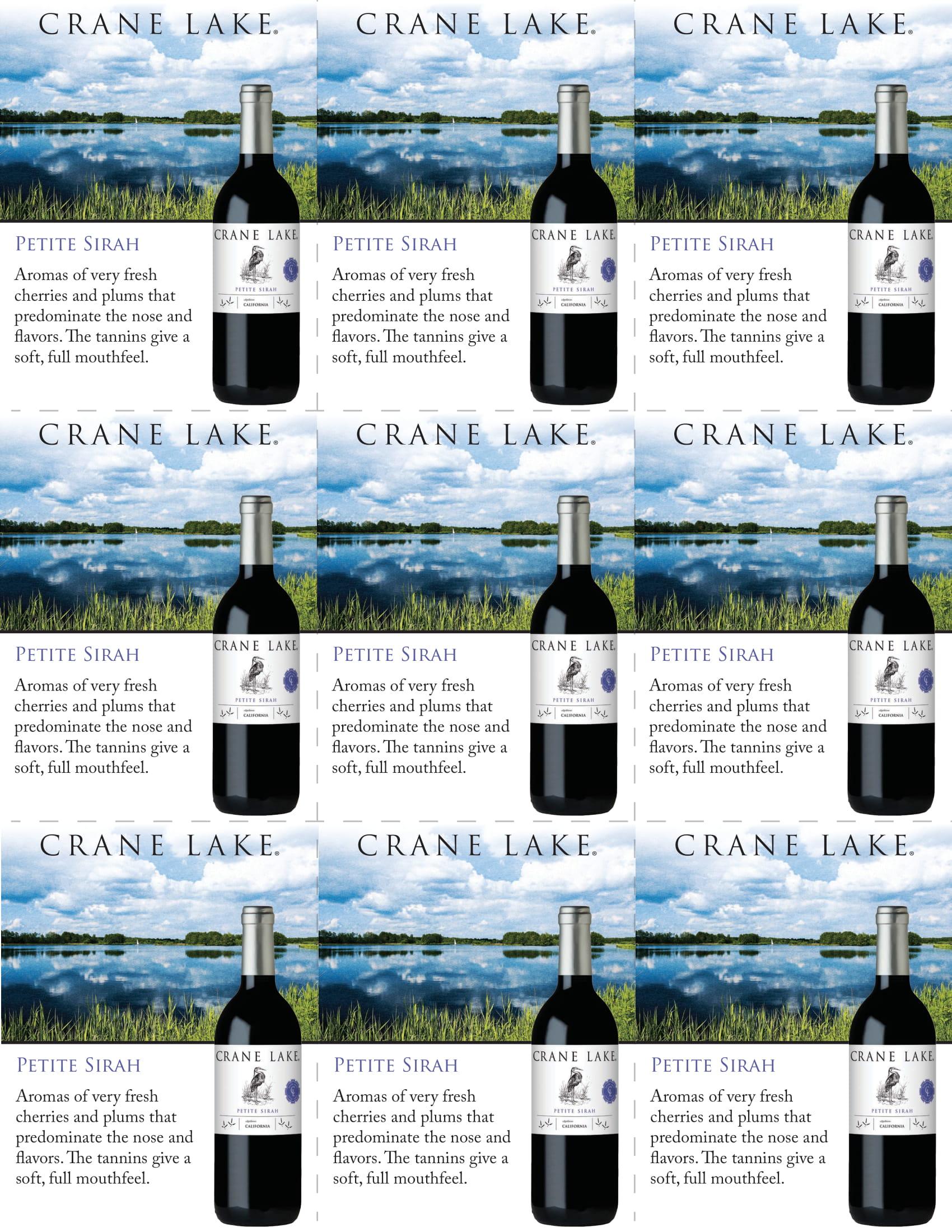 Crane Lake Petite Sirah Shelf Talkers