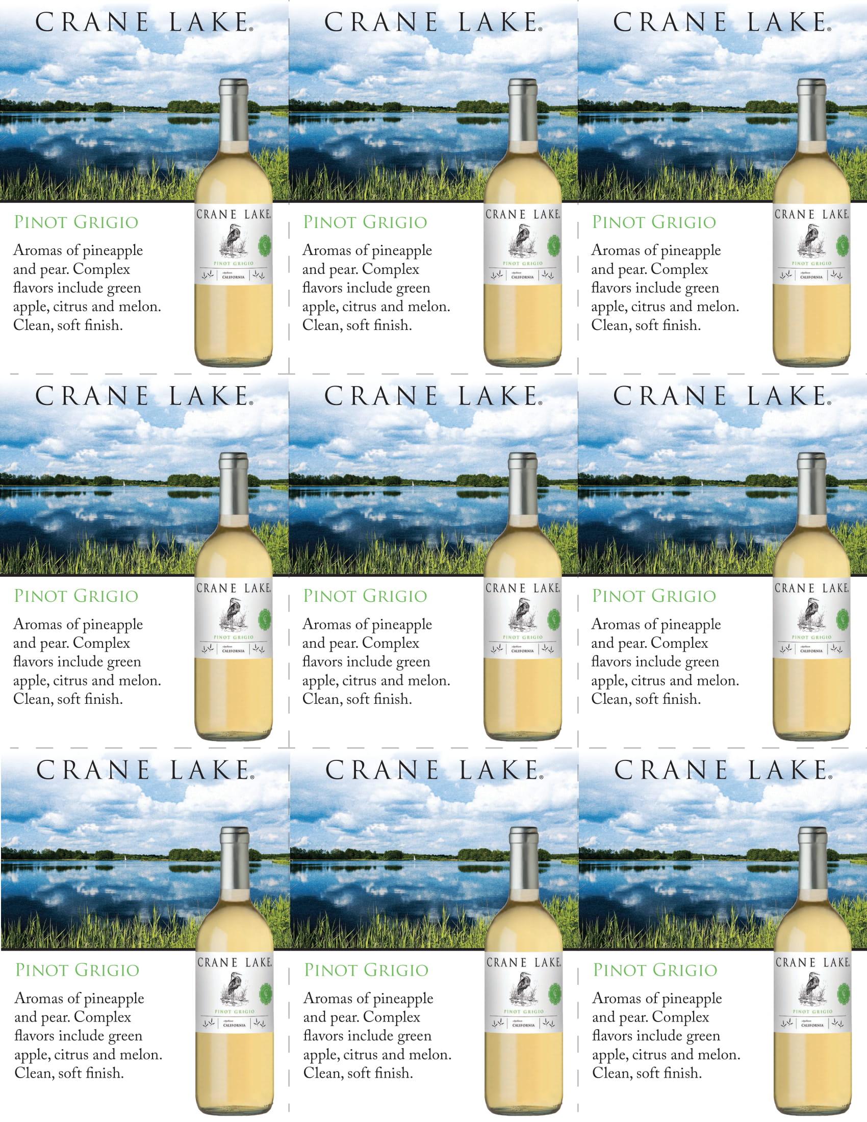 Crane Lake Pinot Grigio Shelf Talkers