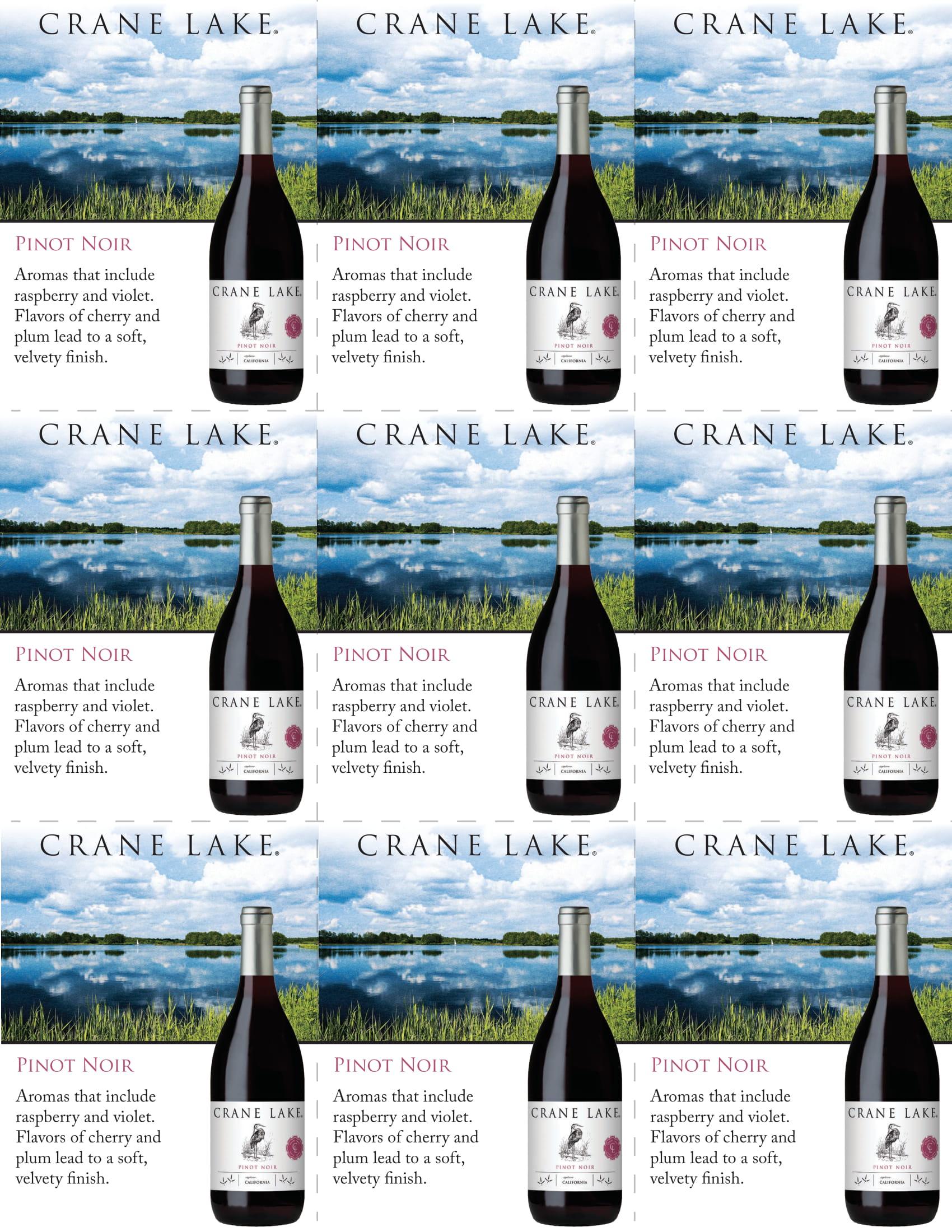 Crane Lake Pinot Noir Shelf Talkers