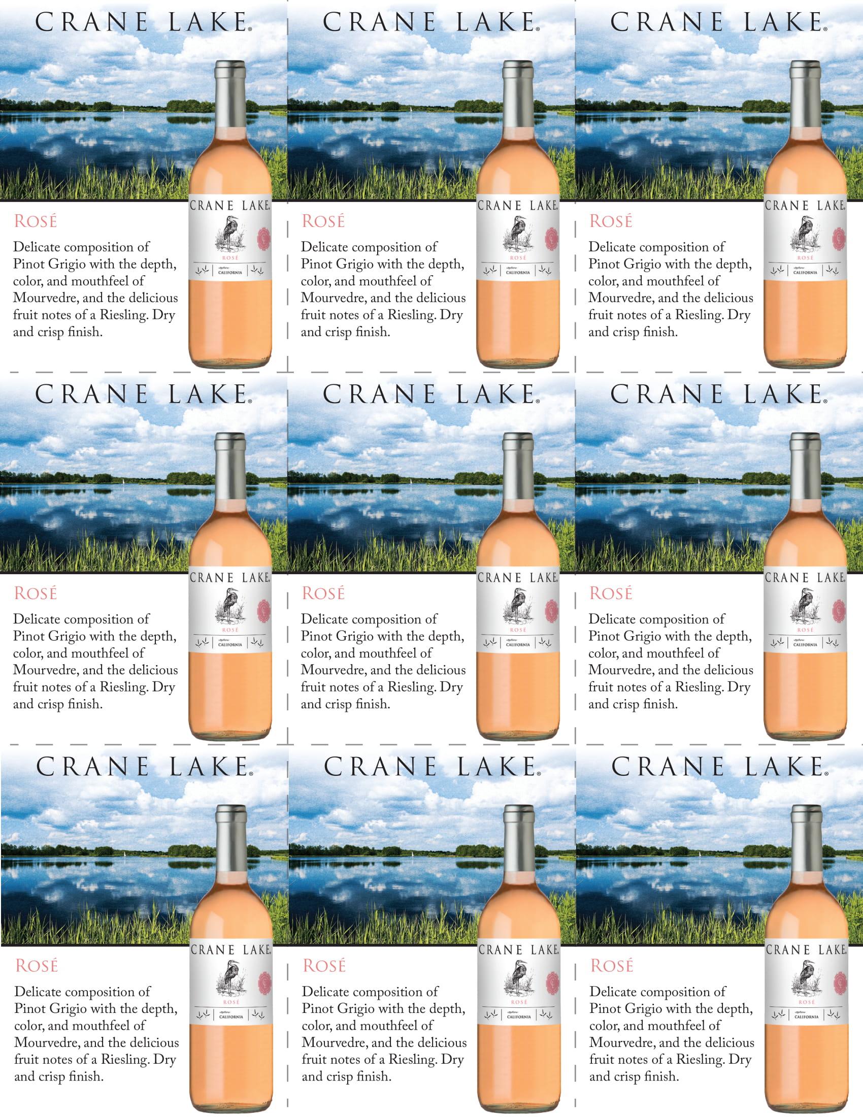 Crane Lake Rosé Shelf Talkers