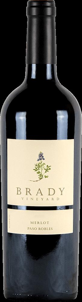 Brady Vineyards Merlot Bottleshot