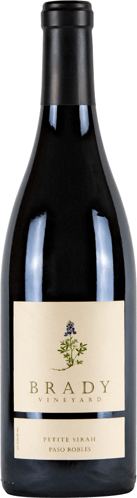 Brady Vineyards Petite Sirah Bottleshot