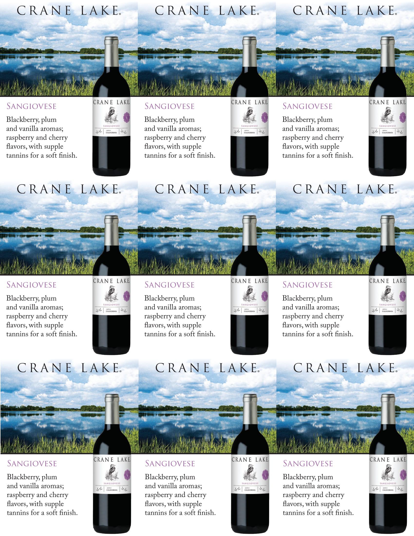 Crane Lake Sangiovese Shelf Talkers