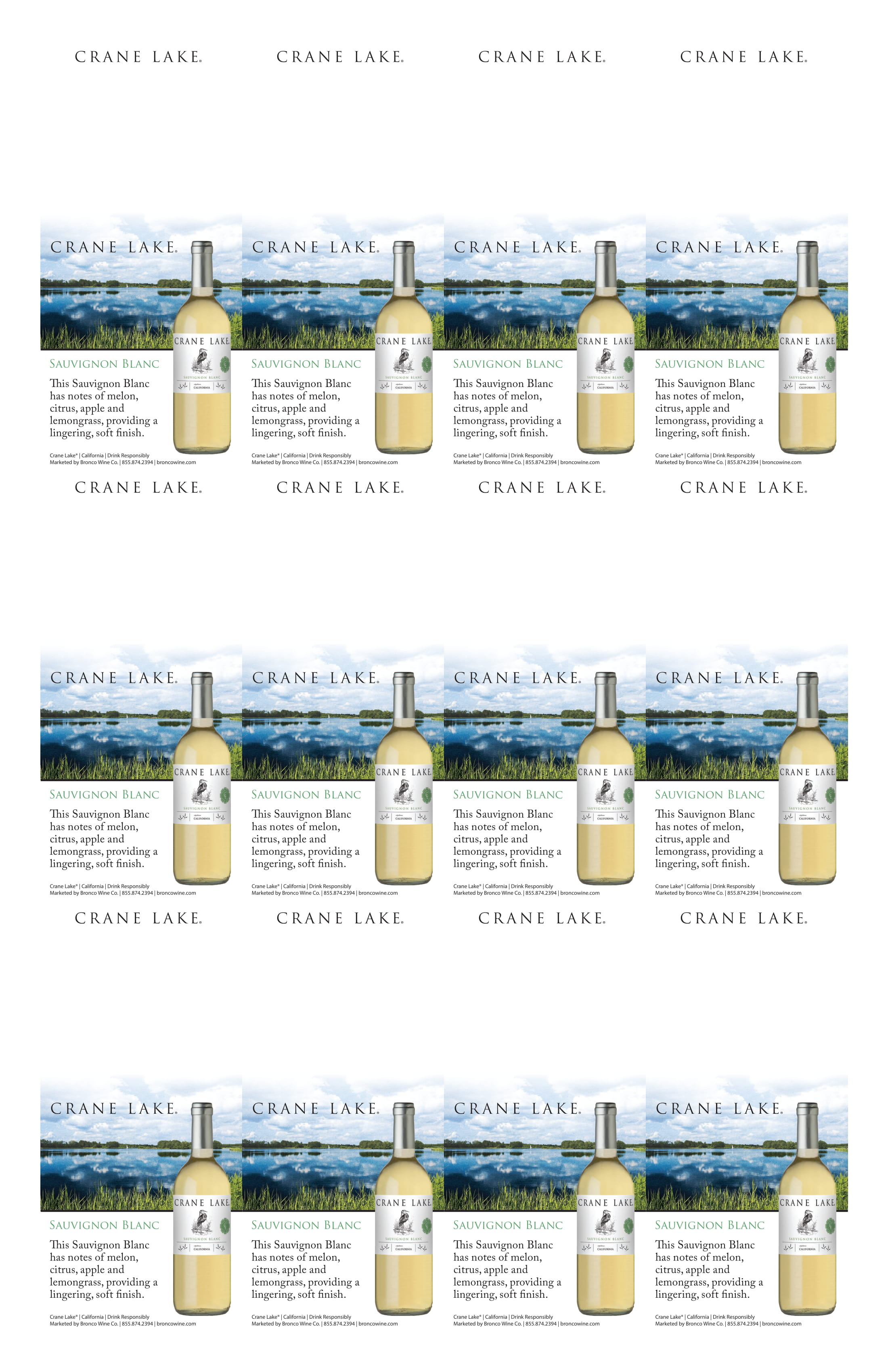 Crane Lake Sauvignon Blanc Neckers