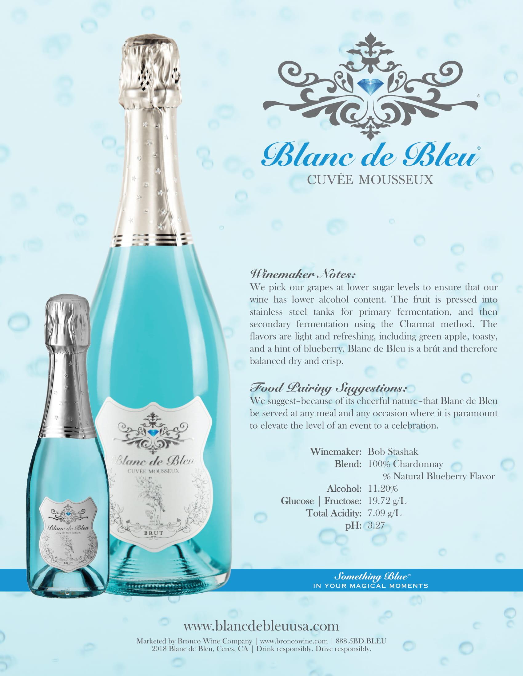 Blanc de Bleu Brut Tech Sheet