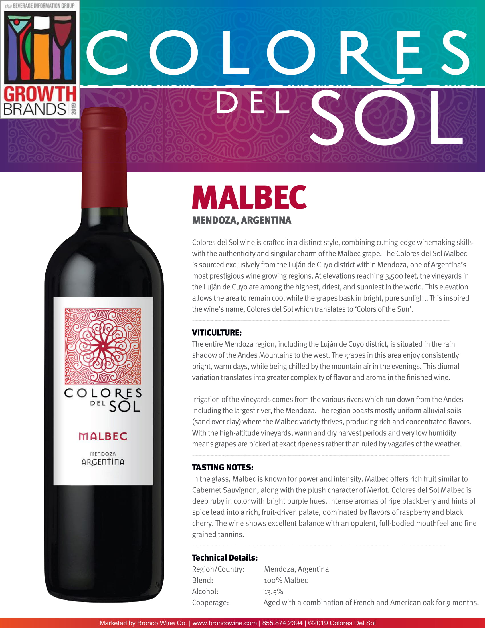 Colores Del Sol Malbec Tech Sheet