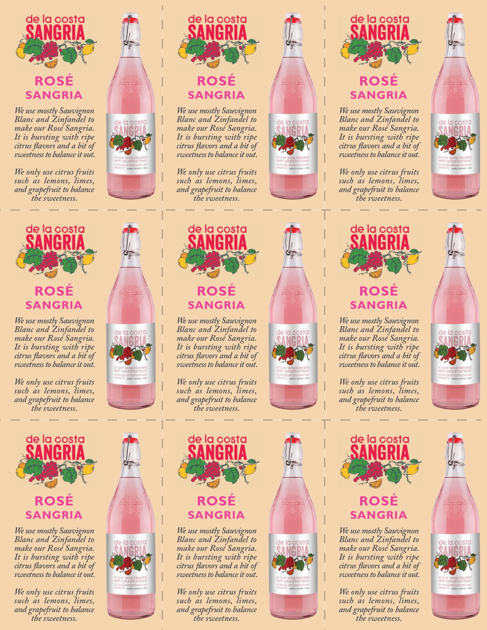 De La Costa Rosé Shelf Talkers