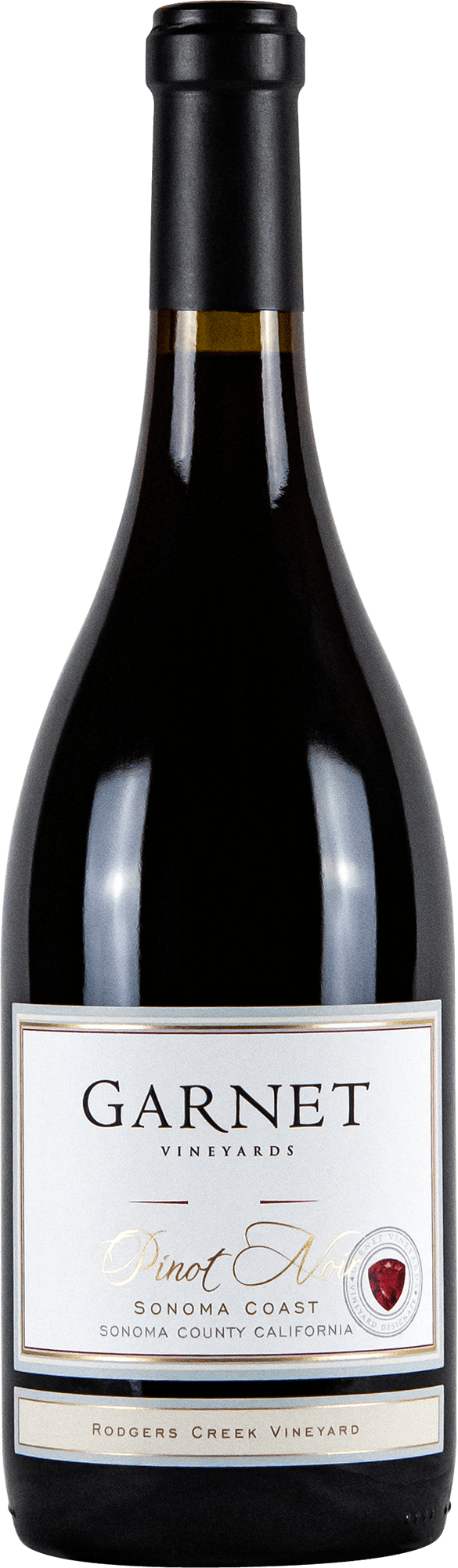 Garnet Vineyards Rodger's Creek Pinot Noir Bottleshot