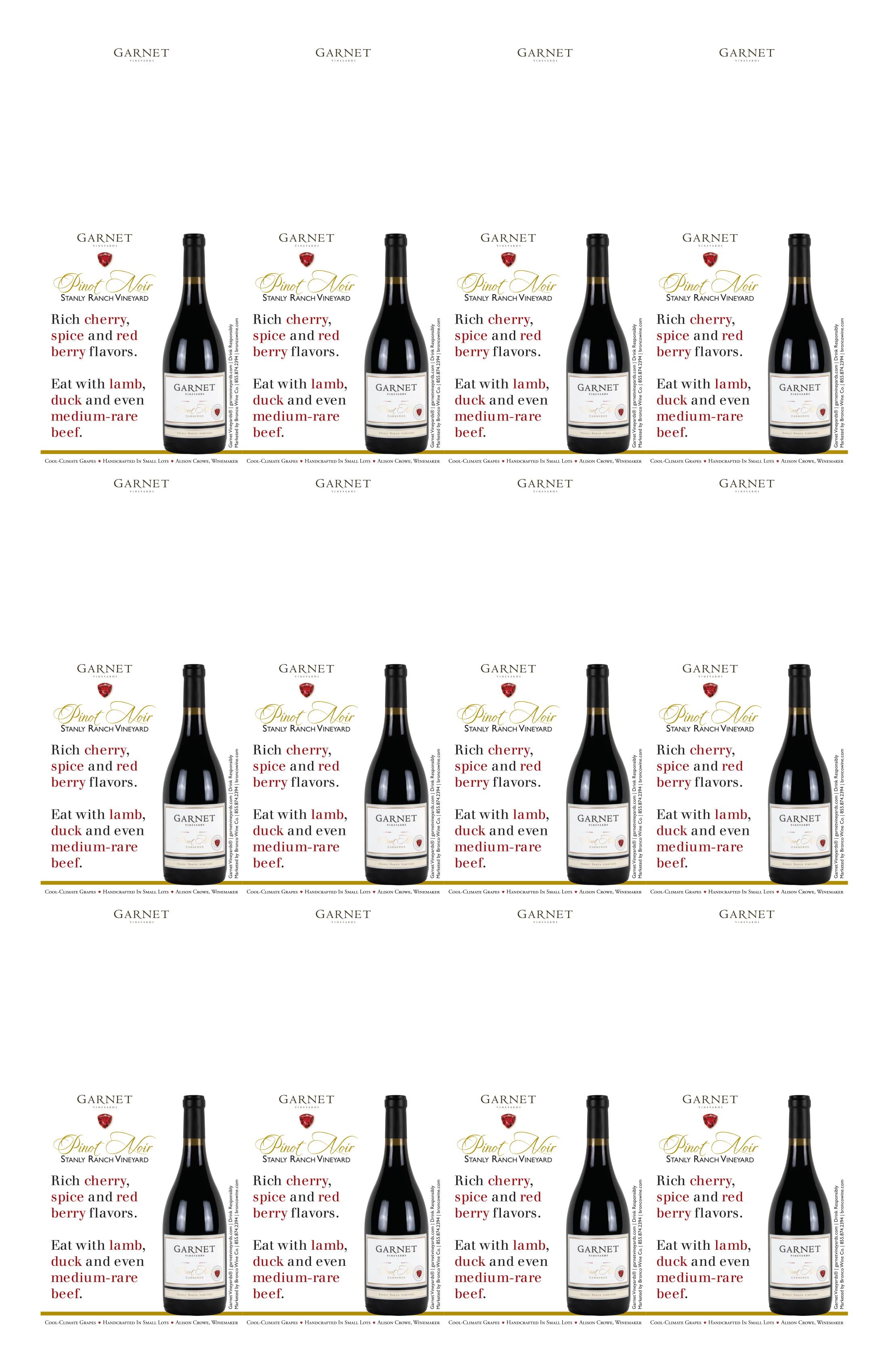 Garnet Vineyards Stanly Ranch Pinot Noir Neckers