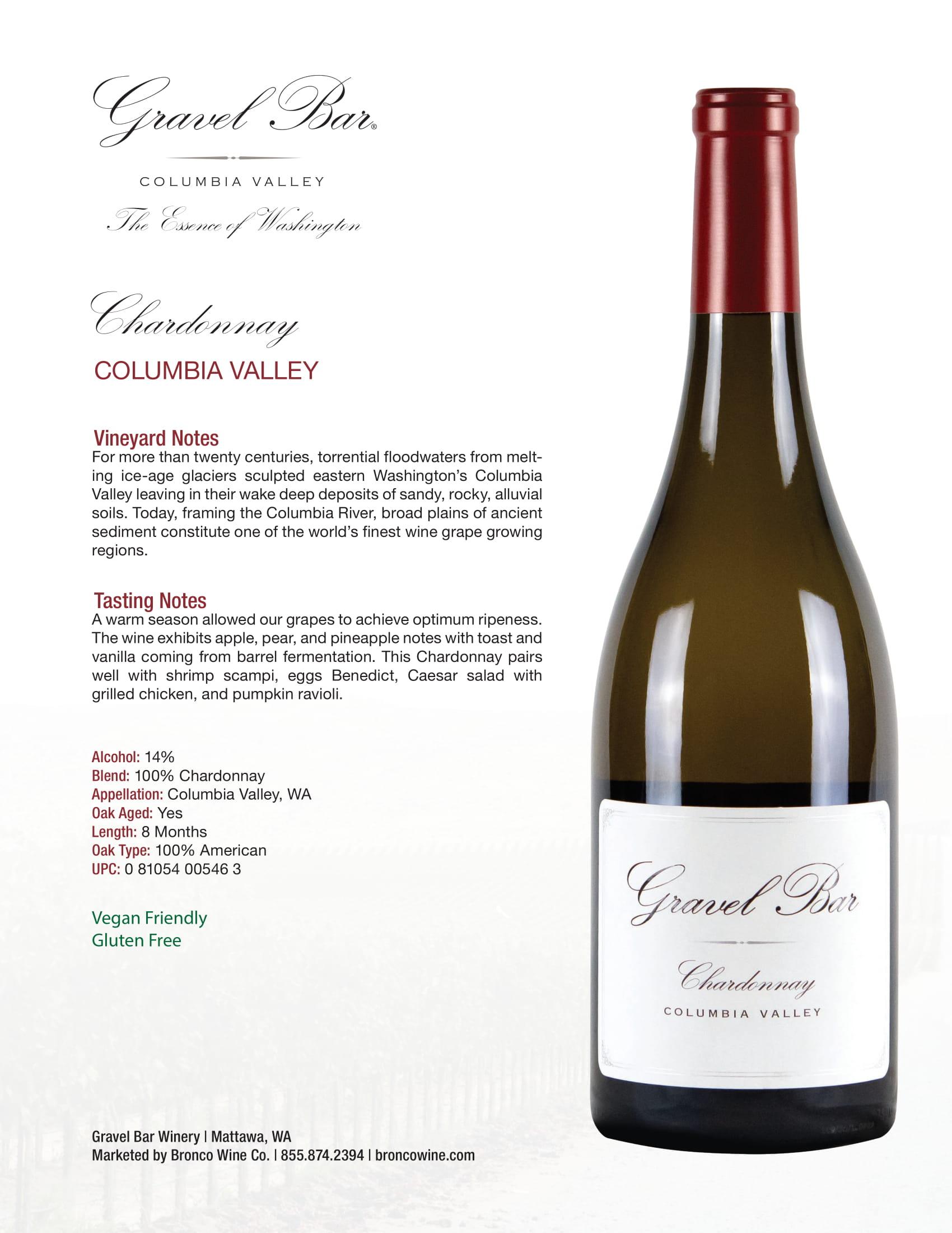 Gravel Bar Chardonnay Tech Sheet