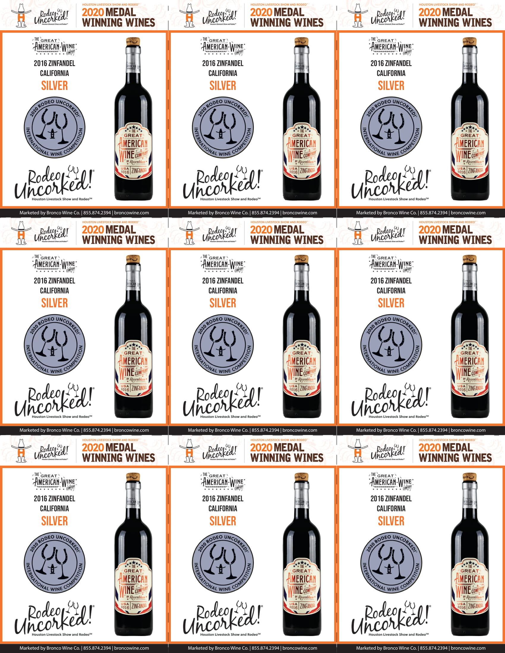 The Great American Wine Company Houston Rodeo Uncorked Shelf talkers