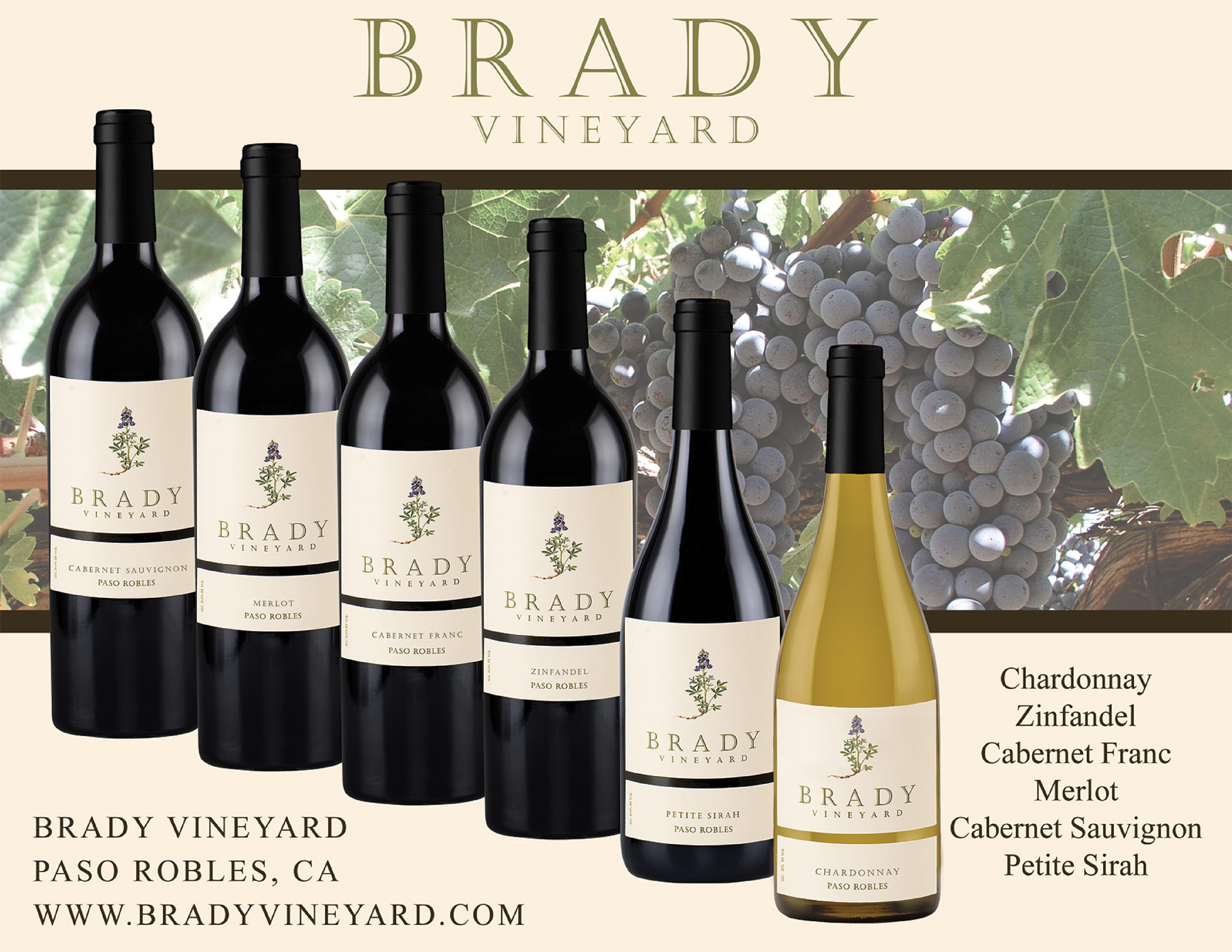 Brady Vineyards Family Sell Sheet