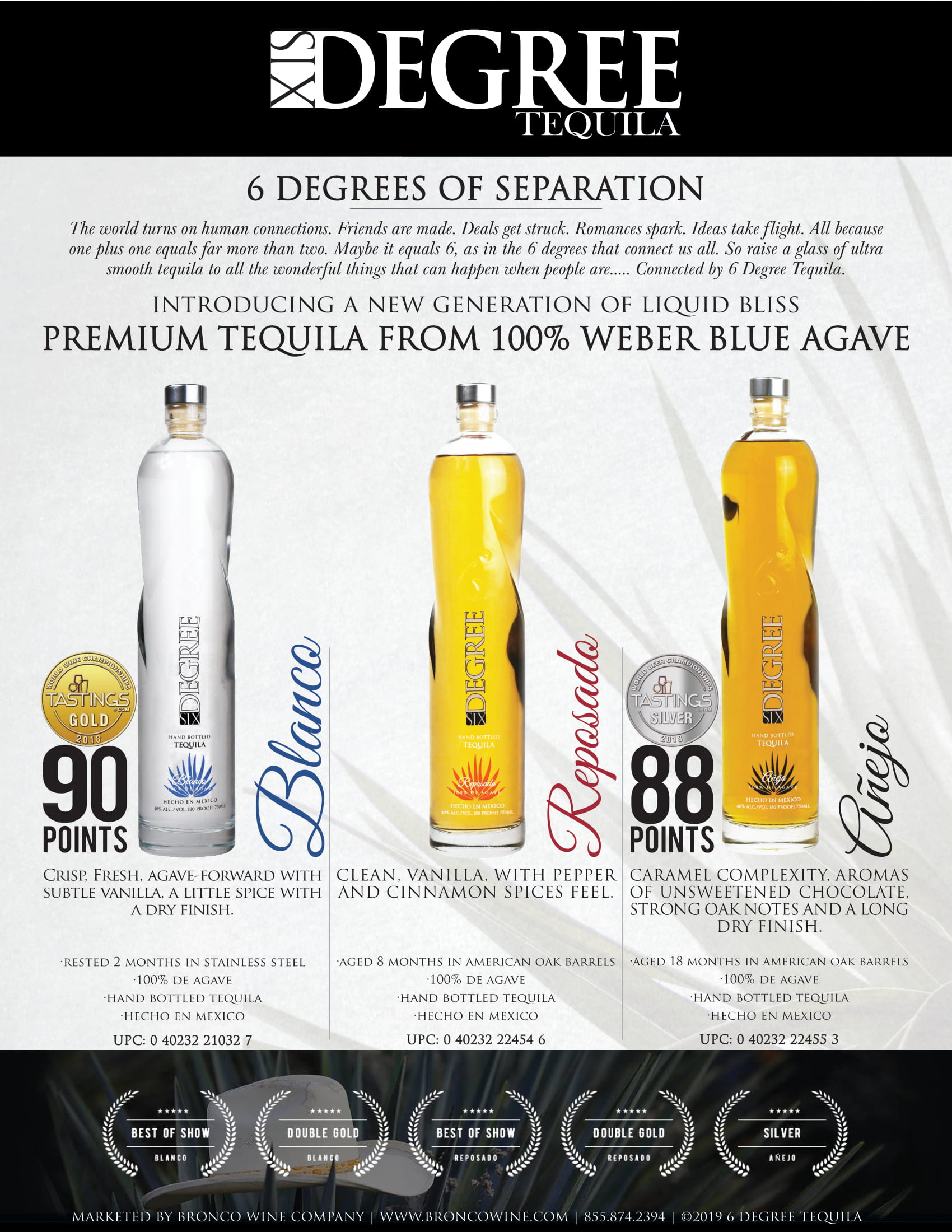 Six Degrees Tequila Family Sell Sheet