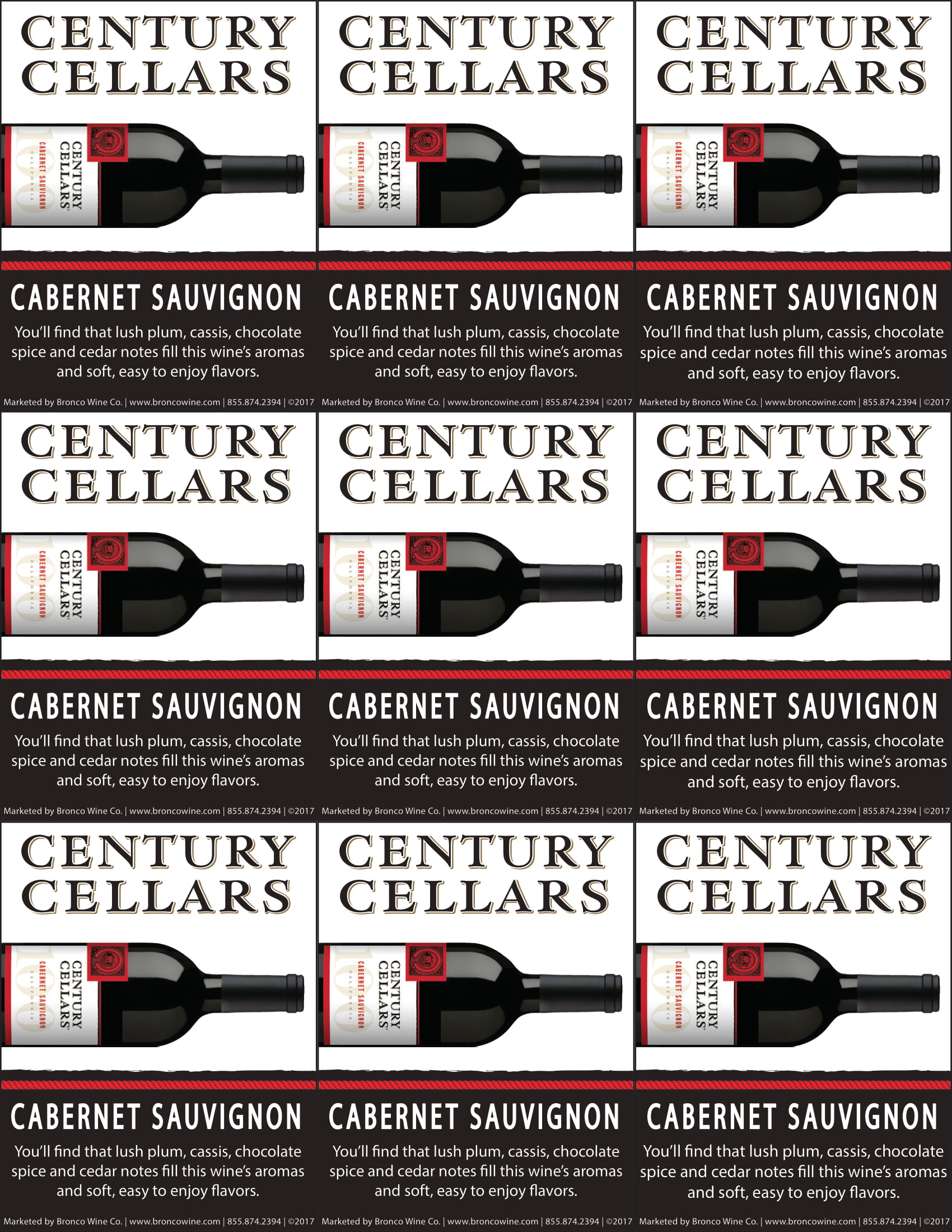 Century Cellars Cabernet Sauvignon Shelf Talkers