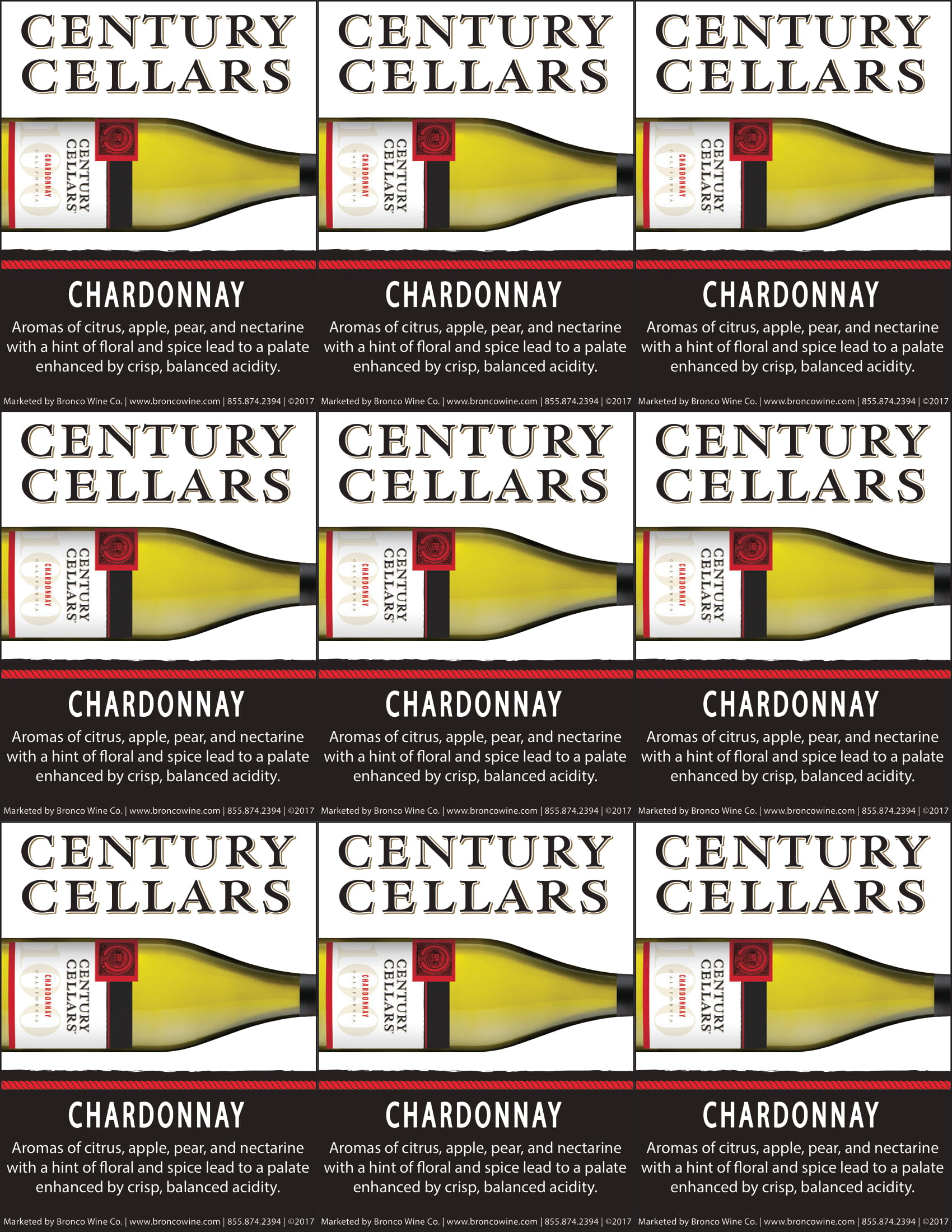 Century Cellars Chardonnay Shelf Talkers
